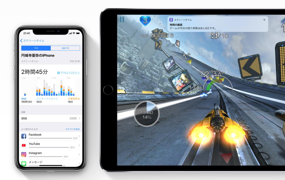 iOS 12のスクリーンタイム